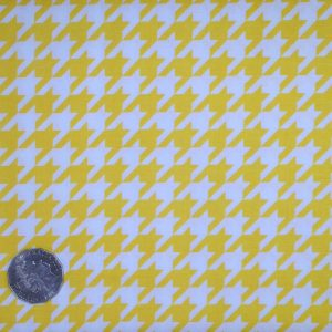 Riley Blake. Houndstooth. Yellow
