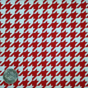 Hounds tooth red