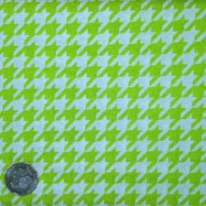 Riley Blake, Houndstooth, Lime
