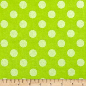 Riley Blake sparkle dots in lime
