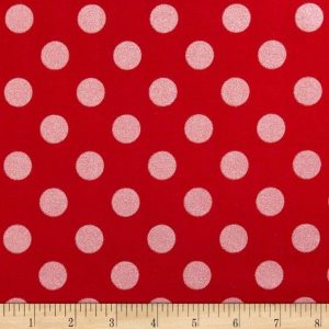 Riley Blake. Red Sparkle Dots